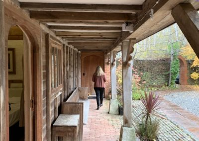 Covered walkway outside bedrooms