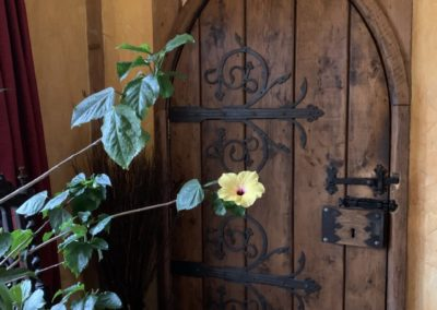 Door from the main barn to the water mill