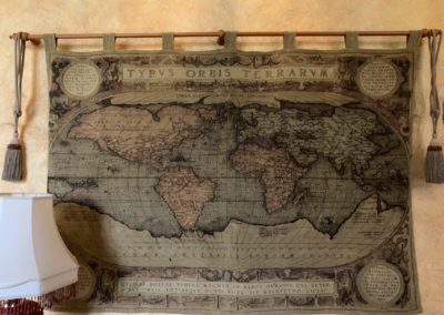 ANcient wall map in the main barn