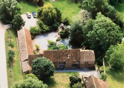 Aerial view of Gurney Manor Mill B&B and Holiday Cottage
