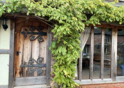 Holiday cottage entrance