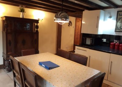 Holiday cottage dining room